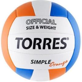 Мяч воллейбольный TORRES SIMPLE ORANGE
