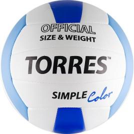 Мяч волейбольный TORRES SIMPLE COLOUR