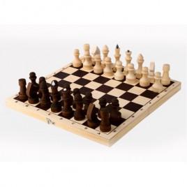Шахматы обиходные парафинированные с доской 290*145*38