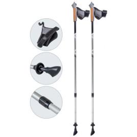 Палки для скандинавской ходьбы телескопические AQD-B016 grey