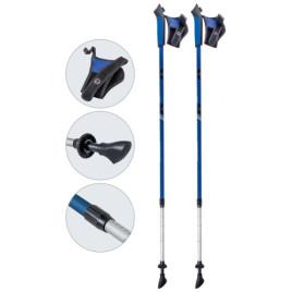 Палки для скандинавской ходьбы телескопические AQD-B017 blue
