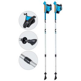 Палки для скандинавской ходьбы телескопические AQD-B015 azure