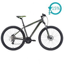 Велосипед Merida BIG.SEVEN 15-D black/green 2020