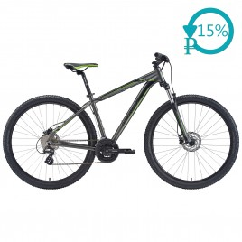 Велосипед Merida BIG.NINE 15-D black/green 2020